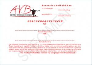 AVB-Gutschein (Beispiel)